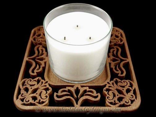 Scroll Saw Jar Candle Tray
