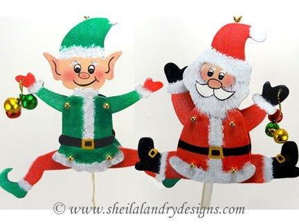 Scroll Saw Jumping Santa Pattern