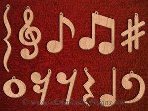 Scroll Saw Music Notes Pattern