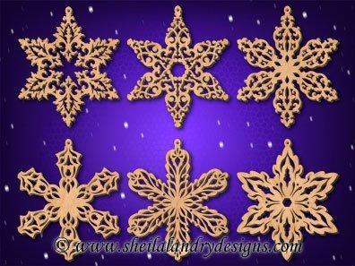 Scroll Saw Snowflakes Pattern