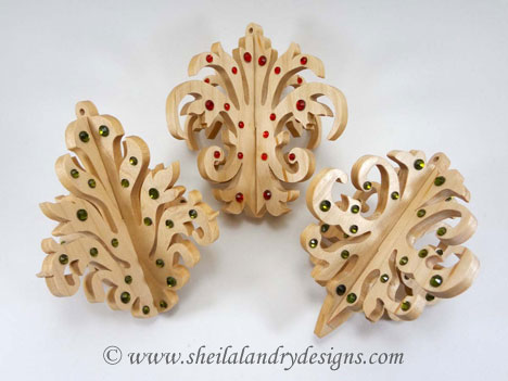 Slotted Scroll Saw Christmas Ornaments