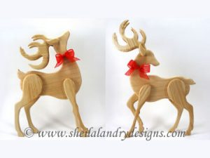 Standing Reindeer Scroll Saw Pattern