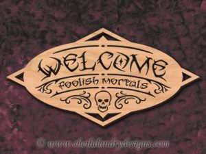 Halloween Welcome Scroll Saw Pattern
