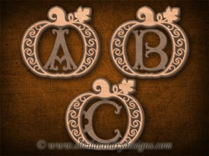Monogram Pumpkins Scroll Saw Pattern