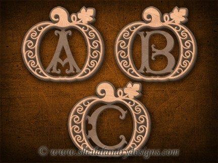 Monogram Pumpkins Scroll Saw Pattern