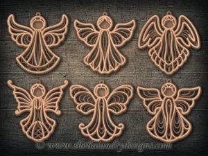 Scroll Saw Angel Ornaments Pattern