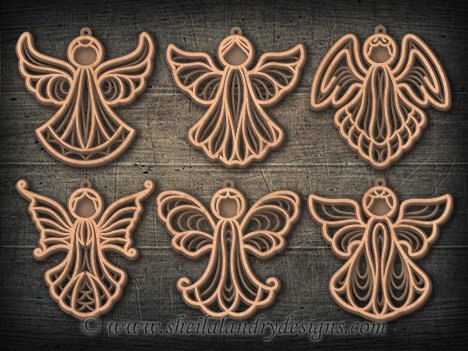 Scroll Saw Angel Ornaments Pattern