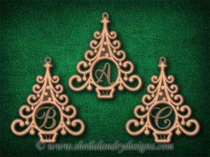 Scroll Saw Monogram Christmas Ornaments