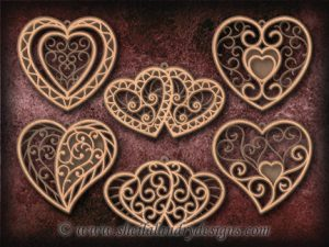 Scroll Saw Heart Ornaments Pattern