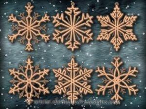 Snowflake Ornament Scroll Saw Pattern