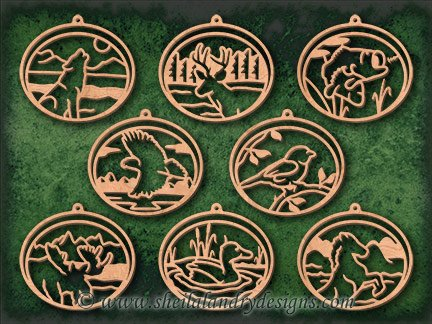 Wildlife Scroll Saw Ornament Pattern