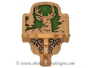 Deer Scroll Saw Shelf Pattern
