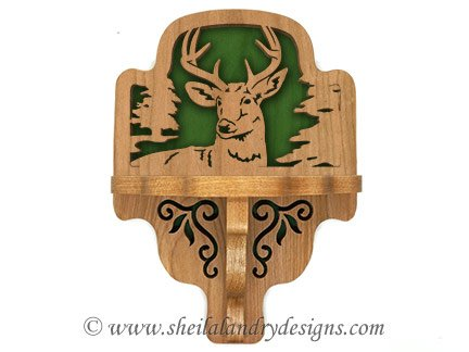 Deer Scroll Saw Shelf Pattern