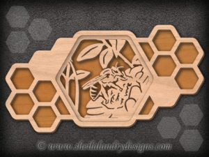 Honey Bee Scroll Saw Pattern