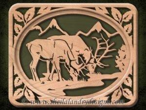 Elk Scroll Saw Pattern