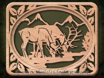 Elk Scroll Saw Pattern