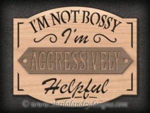 Bossy Scroll Saw Pattern