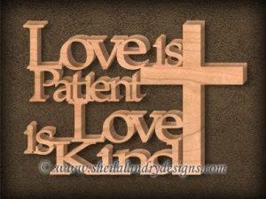 Love Is Patient Scroll Saw Pattern