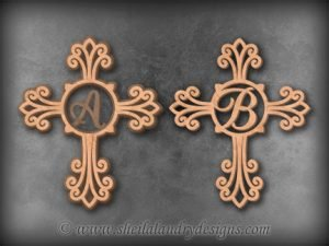 Monogram Cross Scroll Saw Pattern