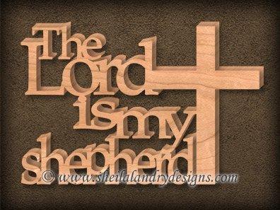 The Lord Is My Shepherd Scroll Saw Pattern
