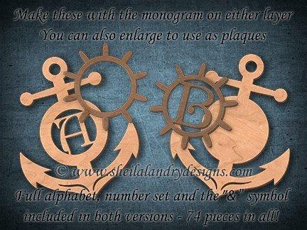 Monogram Anchor Laser Pattern