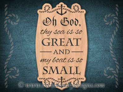 Fisherman's Prayer Scroll Saw Pattern