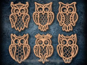 Owl Scroll Saw Ornament Pattern