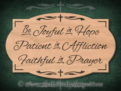 Prayer Scroll Saw Pattern