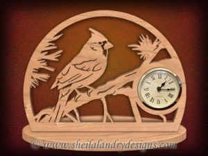 Cardinal Scroll Saw Clock Pattern