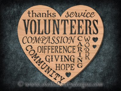 Scroll Saw Volunteering Pattern