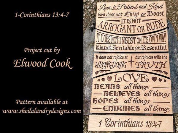 Scroll Saw Bible Passage Pattern
