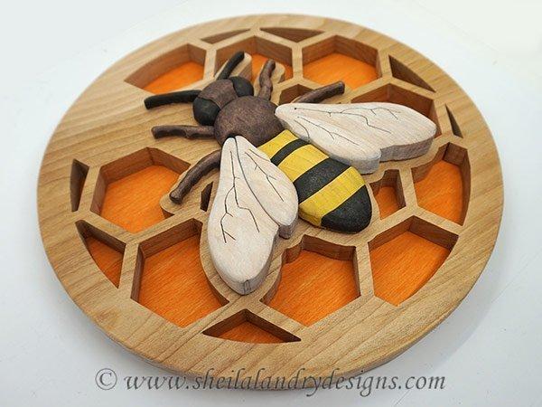 Honey Bee Intarsia Pattern