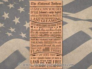 National Anthem Scroll Saw Pattern