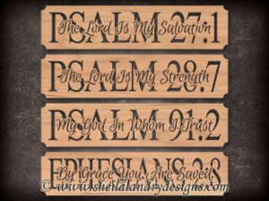 Scroll Saw Bible Verse Pattern